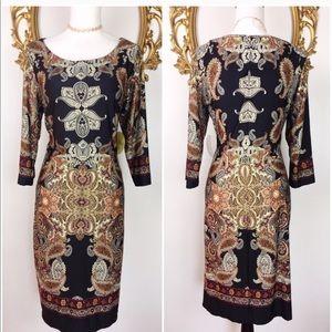 NWT Emma & Michelle Mandala Print Dress Size L